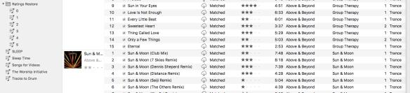 iTunes Rating Restore Playlist