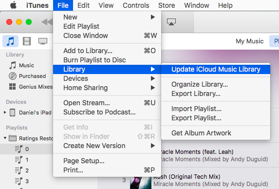 How to update iCloud Music Library (iTunes Match)